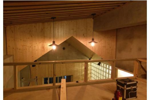 斜頂式天花板木工施作